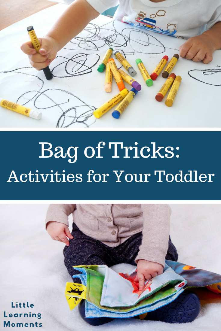 Keep these items with you to help keep your toddler busy when you're in a restaurant or on the go!
