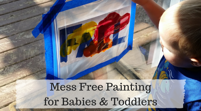 Enjoy painting with your baby or toddler without all of the mess!
