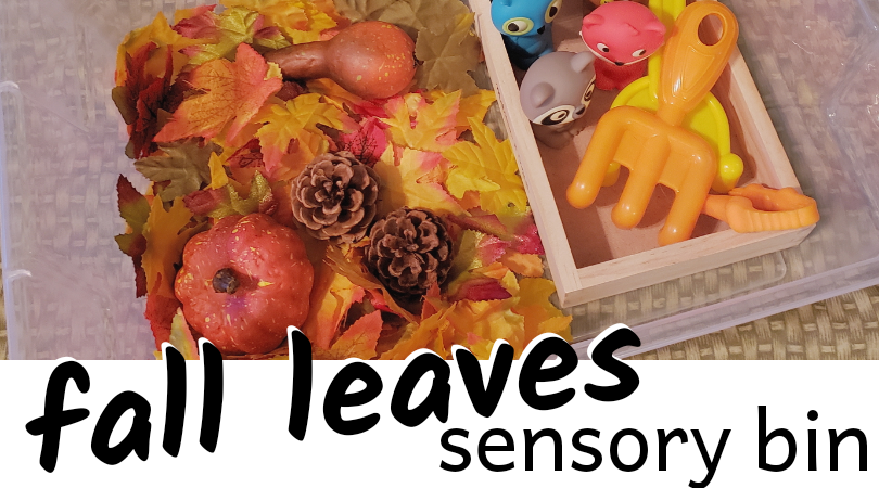 Fall Leaves Sensory Bin