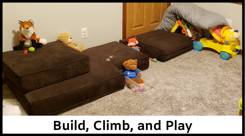 Have fun building, climbing, and playing with the couch cushions!