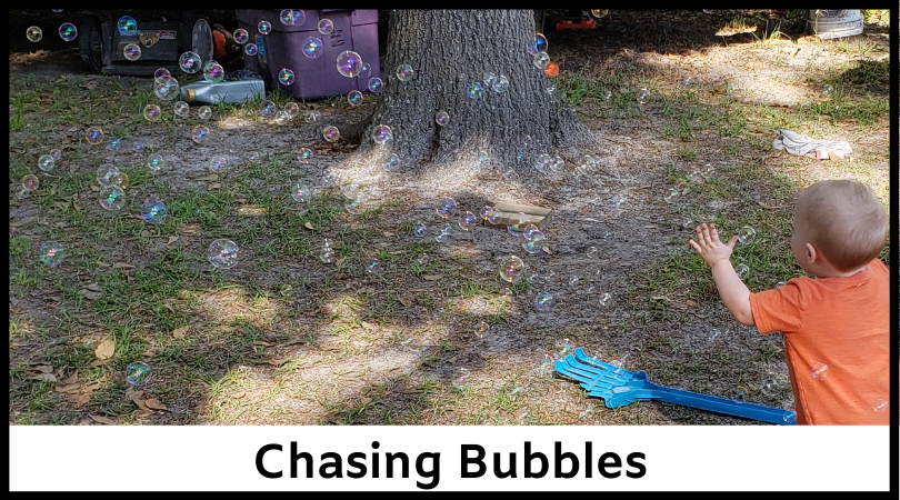 Get your kids up and moving with some bubbles!