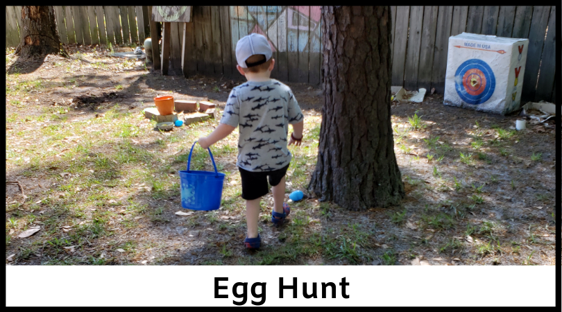 Have a fun Easter egg hunt at home!