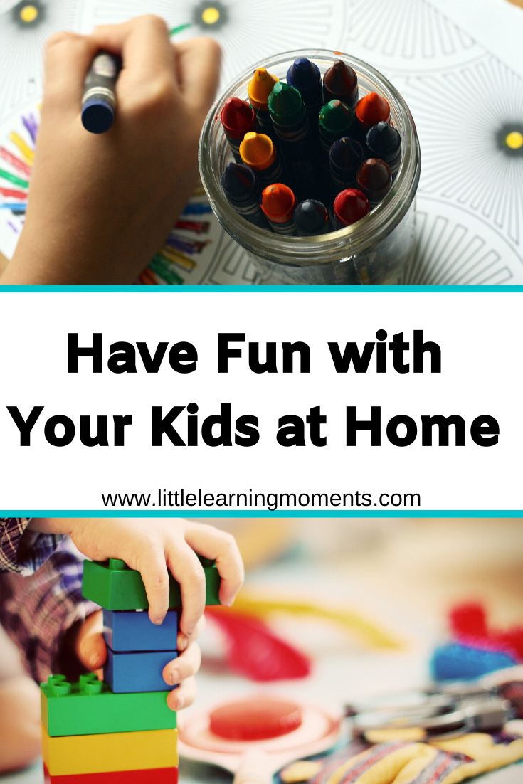 Many different ways to have fun with your kids while they're home on break!