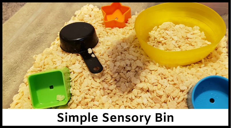 Simple sensory bins can be great for keeping kids entertained and learning.