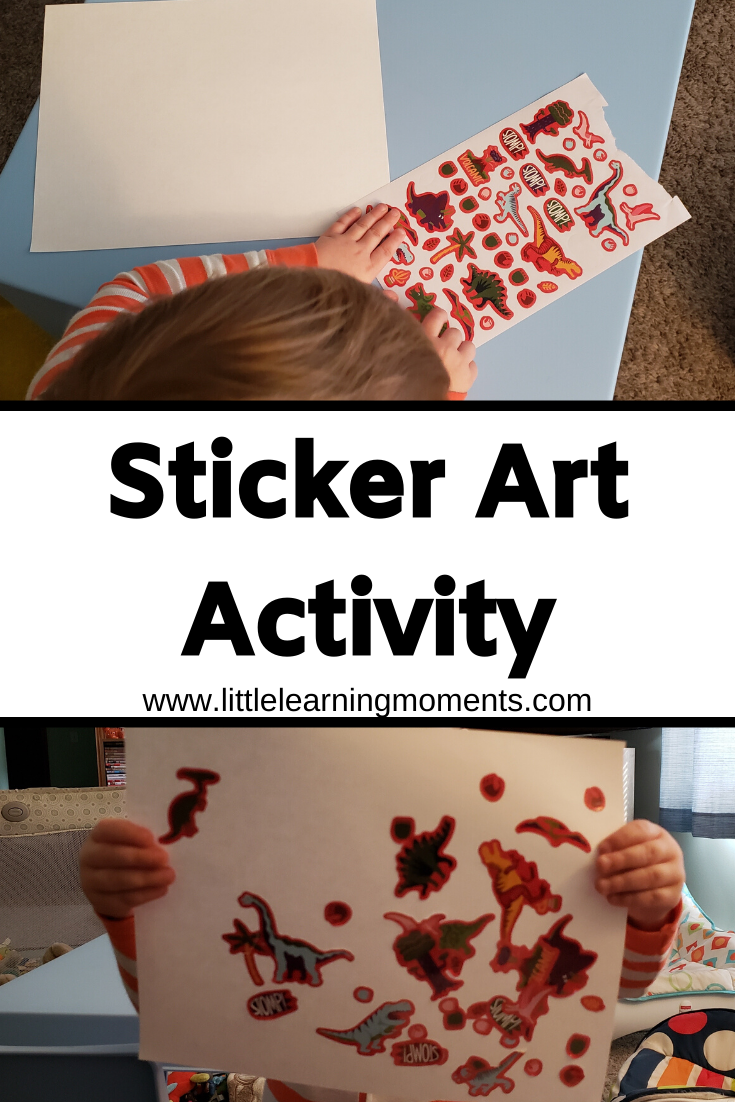 This simple art activity is great for little ones that need to practice their fine motor skills.