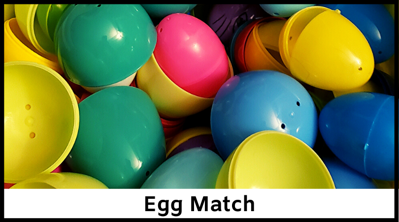 This simple activity will have the kids helping you match together those dusty Easter eggs!
