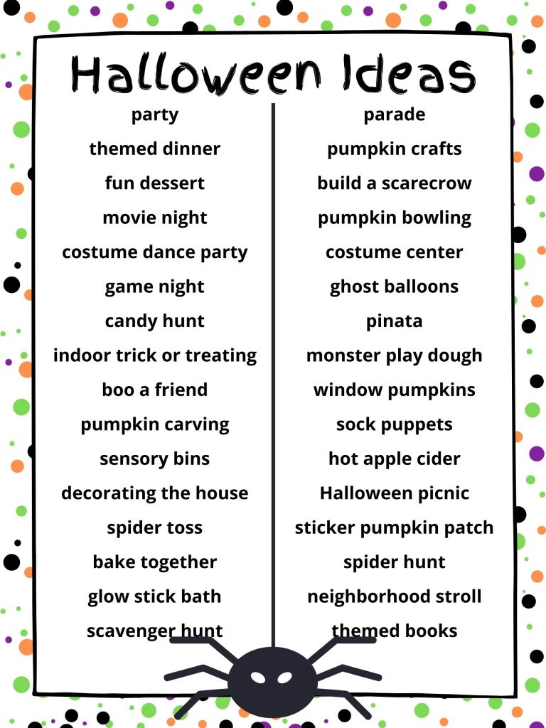 Different ideas to try this Halloween instead of trick or treating